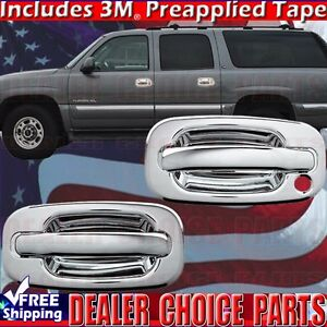 1999 2006 Silverado Sierra 1500 Chrome Door Handle Covers Trims 2dr W Out Psk