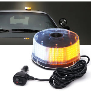 240 Led Beacon Light Vehicle Magnetic Emergency Warning Strobe Light White Amber