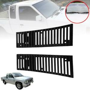 For 1986 1997 Nissan D21 Hardbody Pickup Truck Vent Grille Black Pair