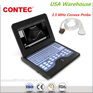 Contec Portable Cms600p2 Laptop Ultrasound Scanner Machine 3 5m Convex Probe Usa