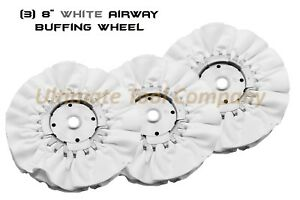 3pc 8 Airway Buffing Wheel 5 8 16 Ply Renegade Products Polishing Dia White