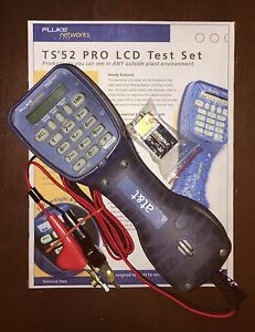 Fluke Networks Ts52 Pro Test Butt Set Get Free Shipping