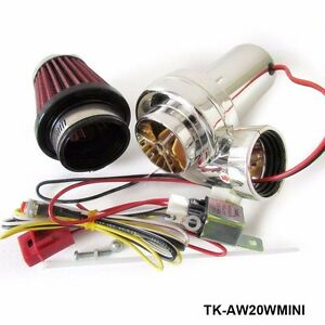 Turbo Kits Mini Electric Turbo Supercharger Kit Air Filter Intake For Motorcycle