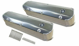 Ford Sbf Fabricated Polished Aluminum Long Bolt Tall Valve Covers 260 351w 62 85