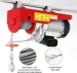 Pro Mini Heavy Duty 1500 Lb 700kg Electric Motor Overhead Winch Hoist Crane Lift
