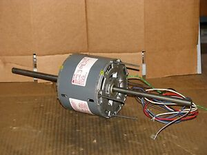 New Magnetek 1 3 Hp 3 Speed Double Shaft Blower Motor Stock 448 Model He3h110n