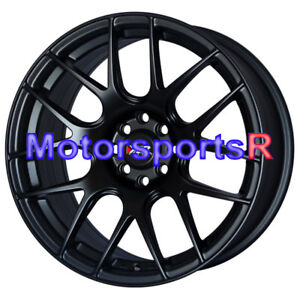 Xxr 530 17 Flat Black Rims Staggered Concave Wheels Stance 4x100 84 91 Bmw E30