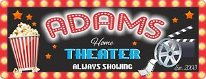 Personalized Home Theater Sign CUSTOM MADE Signs Movie Signs for Theater Decor