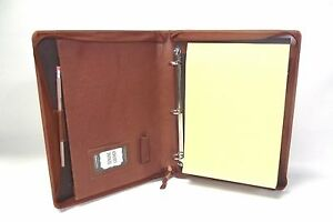 Brown Leather A4 Folder Organiser Portfolio Personalisation Option It08 3 Ring