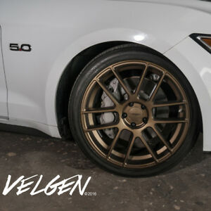 20 Velgen Vmb6 Bronze Concave Wheels Rims Fits Ford Mustang Gt Gt500