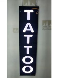 Tattoo Sign Led Light Box Sign White Color 12 x48 x2