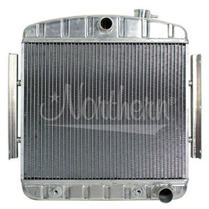 205122 Northern 55 57 Chevy V8 Aluminum Downflow Radiator Transmission Cooler