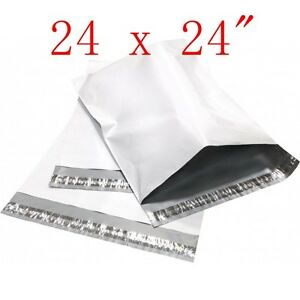 300 Pcs 24x24 Poly Mailers Shipping Envelopes Sealing Plastic Bags 2 35 Mil