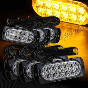 72 Led Amber Car Truck Emergency Beacon Warn Hazard Flash Strobe Light Universal