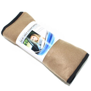 Super Plush Tan Fleece Seat Belt Cover Shoulder Comfort Pad For Car Truck Auto