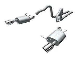 Borla 140375 2011 Ford Mustang 3 7l 6cyl 6spd Rwd Ss S type Catback Exhaust
