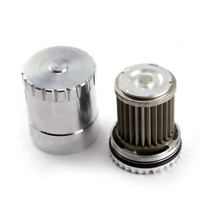 Fits Ford Billet Aluminum Reusable Oil Filter W stainless Steel Element