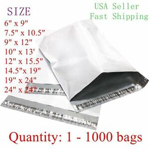 Poly Mailers Shipping Envelope Bags 2 35 Mil Different Size 1 50 100 500 1000