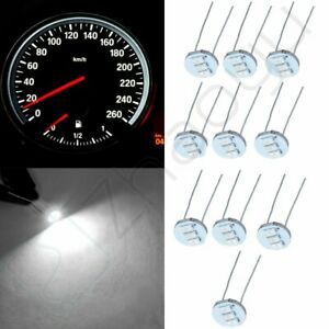 10pcs Upgrade White 3smd 4 7mm Led Instrument Cluster Dash Light Bulb For Chevy