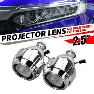 2x 2 5 Mini Bi Xenon Hid Projector Lens Car Low High Beam Headlight Shroud Us