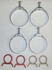 New 1961 Chevy Passenger Car Radiator And Heater Hose Clamp Set Small Block