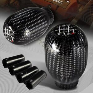 Real Carbon Fiber Type R Manual Throw 6 Speed Gear Shift Shifter Knob Universal