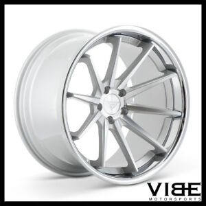 20 Ferrada Fr4 Silver Concave Wheels Rims Fits Ford Mustang Gt Gt500