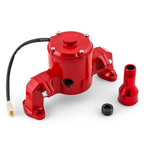 Chevy Sbc 350 35 Gpm Electric Water Pump Powdercoated Red