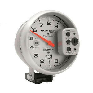 Auto Meter 3964 5in S C Silver 9000 Rpm Playback Tach