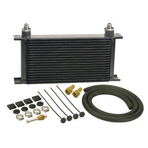 Derale 13403 19 row Stack Plate Trans Cooler Kit 6an