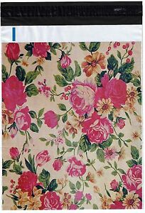 200 Bags 100 10x13 Roses 100 10x13 Pink Flowers Designer Poly Mailers
