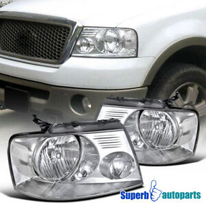 For 2004 2008 Ford F150 Truck Headlights Head Lamps Clear Pair