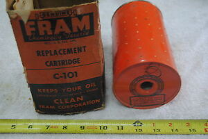 Vintage Fram C 101 Oil Filter Replaces 5572501 5574295 1595105 5000889 853108