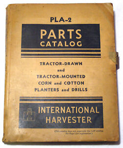International Harvester Pla 2 Parts Catalog Tractor Drawn Corn Cotton Planters