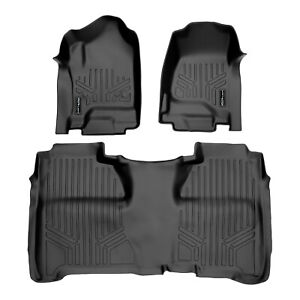 Smartliner Custom Floor Mats Liner Set For Chevy Gmc Crew Cab Black