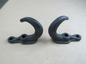 Tow Hooks Wwii Usmc Rams Horn Style Pair Fit Willys Mb Gpw Cjv35 Jeep