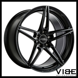19 Ace Aff01 Flow Form Black Concave Wheels Rims Fits Jaguar Xkr