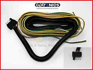 New 25 Wishbone Style Trailer Wiring Harness With 4 Flat Connector W Loom