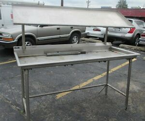 72x30 Stainless Steel Dish Table