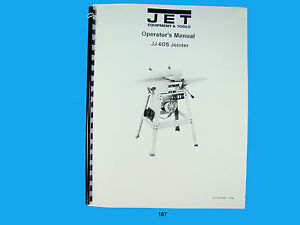 Jet Jj 60s Jointer Operators Manual 187