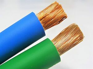 80 2 0 Welding Battery Cable 40 Green 40 Blue 600v Usa Epdm Heavy Duty Copper