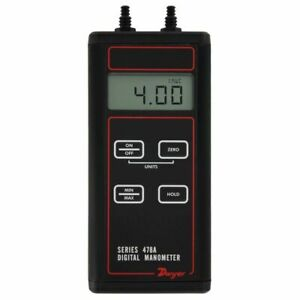 Dwyer 478a 0 Digital Differential Manometer 4 To 4w c