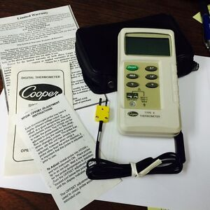 Cooper Digital Thermometer Ht20k With Probe 58f To 1999f New