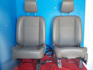 Dodge Ram 1500 2500 Truck Front Seats Middle Console Jump 06 Oem Vinyl Taupe