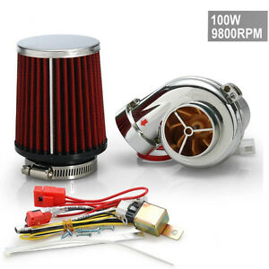 Motor Electrical Turbocharge Supercharger 100w 9800rpm 125cc 500cc Fast Shipping