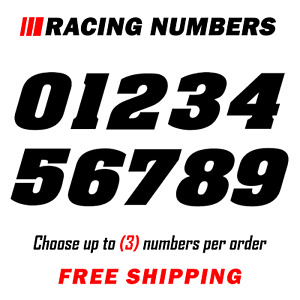 Racing Numbers Vinyl Decal Sticker Dirt Bike Plate Number Bmx Competition 200