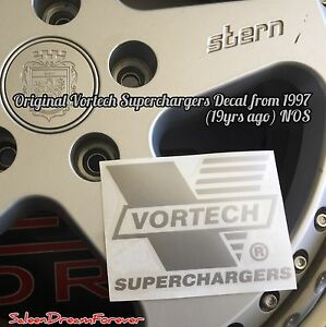 Silver Vortech Supercharger Decal Sticker Frm 97 Ford Saleen S351 Shelby Mustang