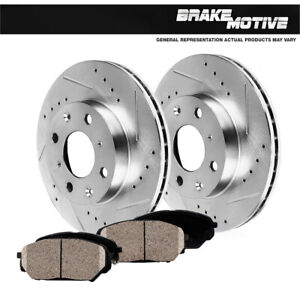 Front Rotors Ceramic Pads For 1998 1999 2001 2002 Toyota Corolla Chevy Prizm