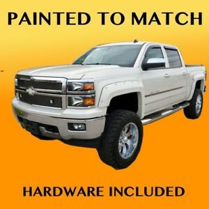 New 2015 Chevy Silverado 1500 Truck Painted Fender Flares To Match Bolt Style