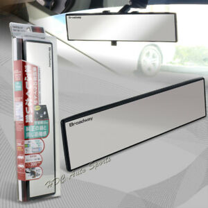 Broadway 300mm Wide Flat Interior Clip On Rear View Clear Mirror Universal 6